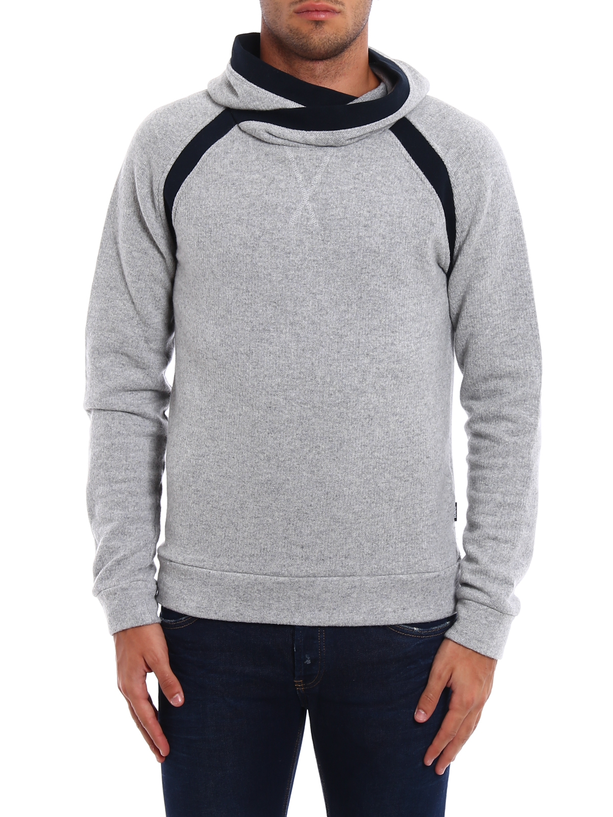 Cotton and wool blend hoodie by Dondup - Sweatshirts & Sweaters ...