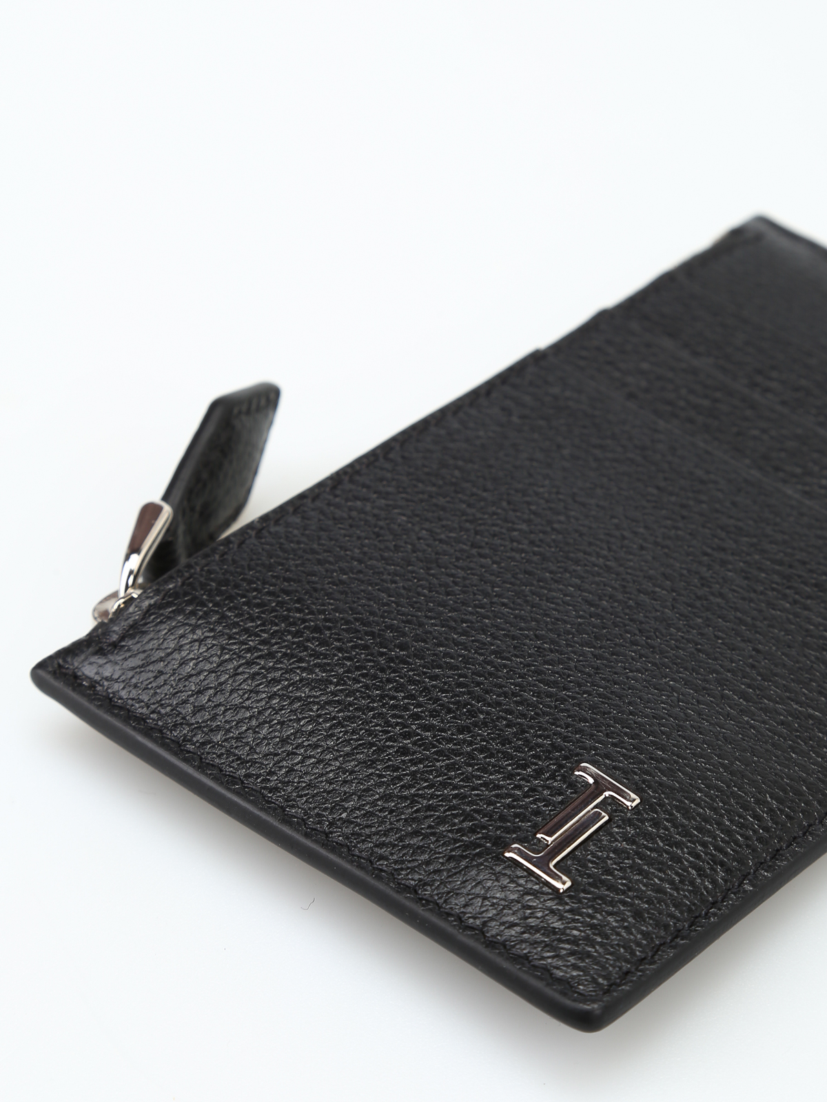 432a36cca0 Tod'S - Double T logo grainy leather card holder - wallets & purses ...