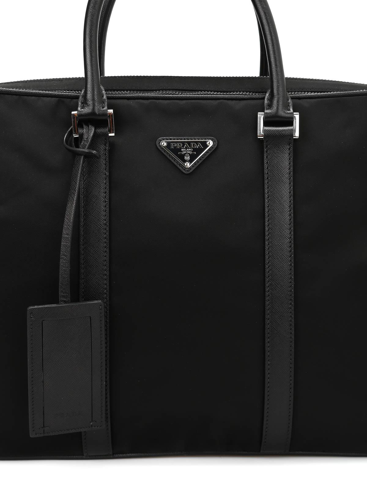 5bf22bf145dc Prada - Double zip nylon briefcase - laptop bags & briefcases ...