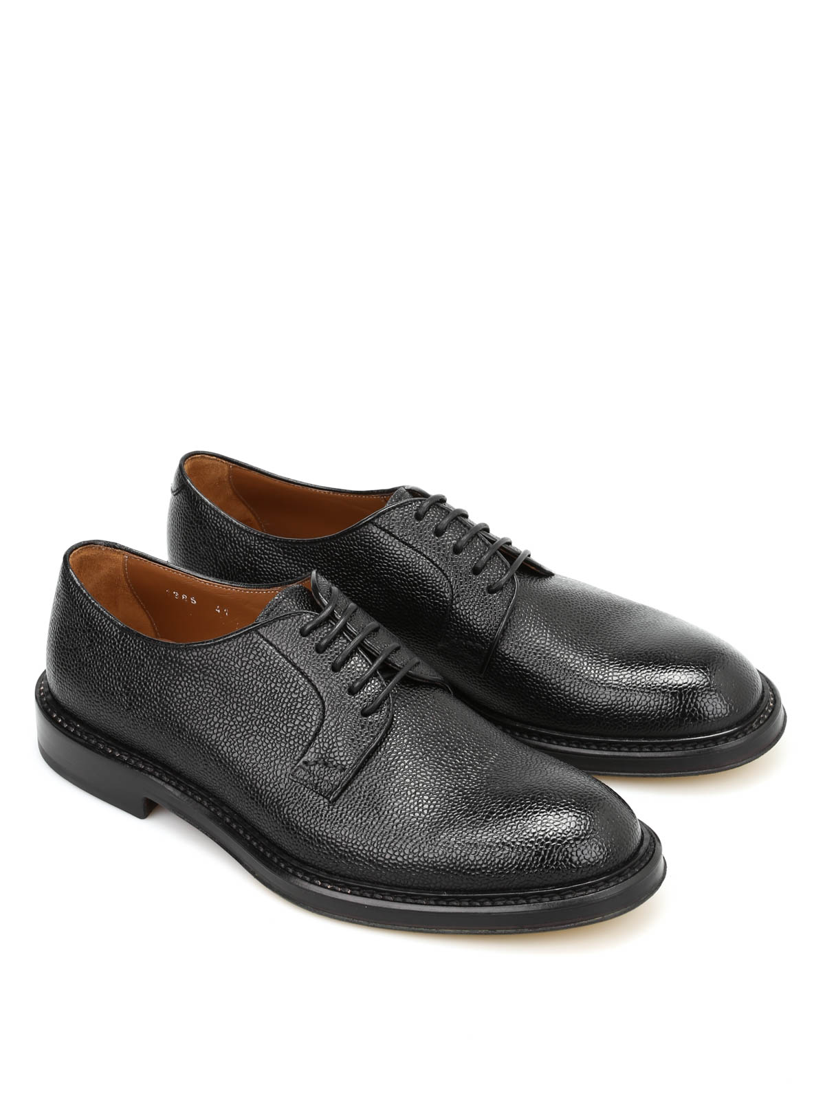 Hammered Leather Derby Shoes By Doucal S Classic Shoes