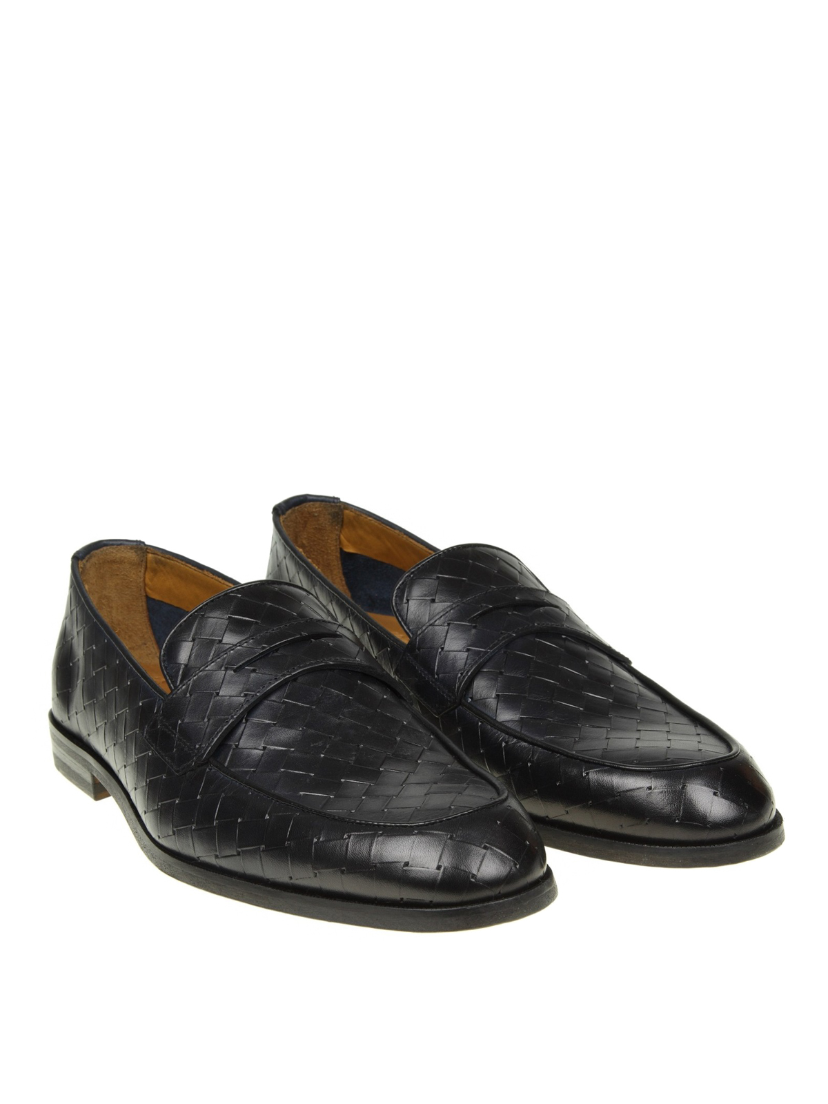 Dark blue leather loafers Doucal's ArLfAt
