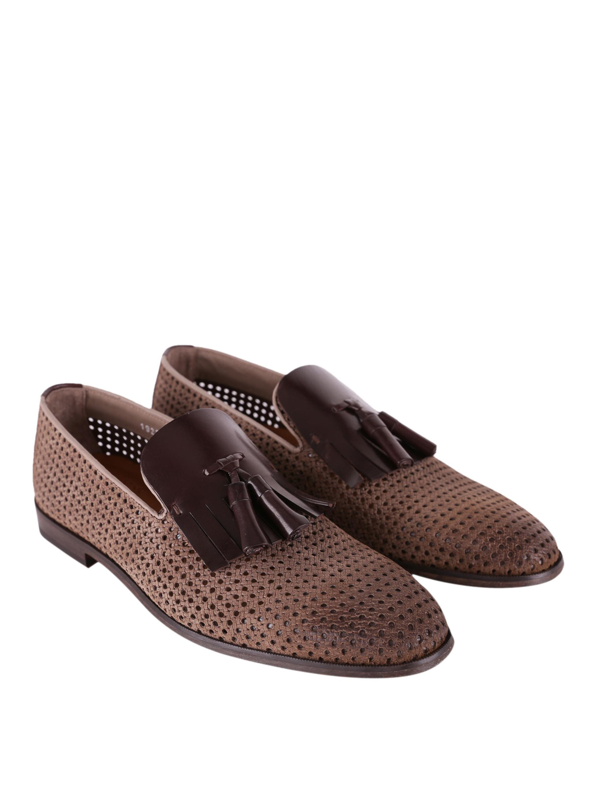 0f1f960754d Doucal s - Perforated leather loafers - Loafers   Slippers ...