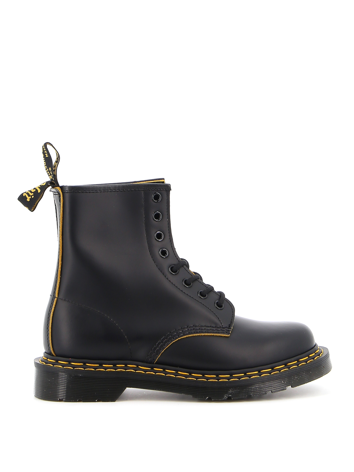 Dr. Martens Leathers 1460DS SMOOTH SLICE ANKLE BOOTS