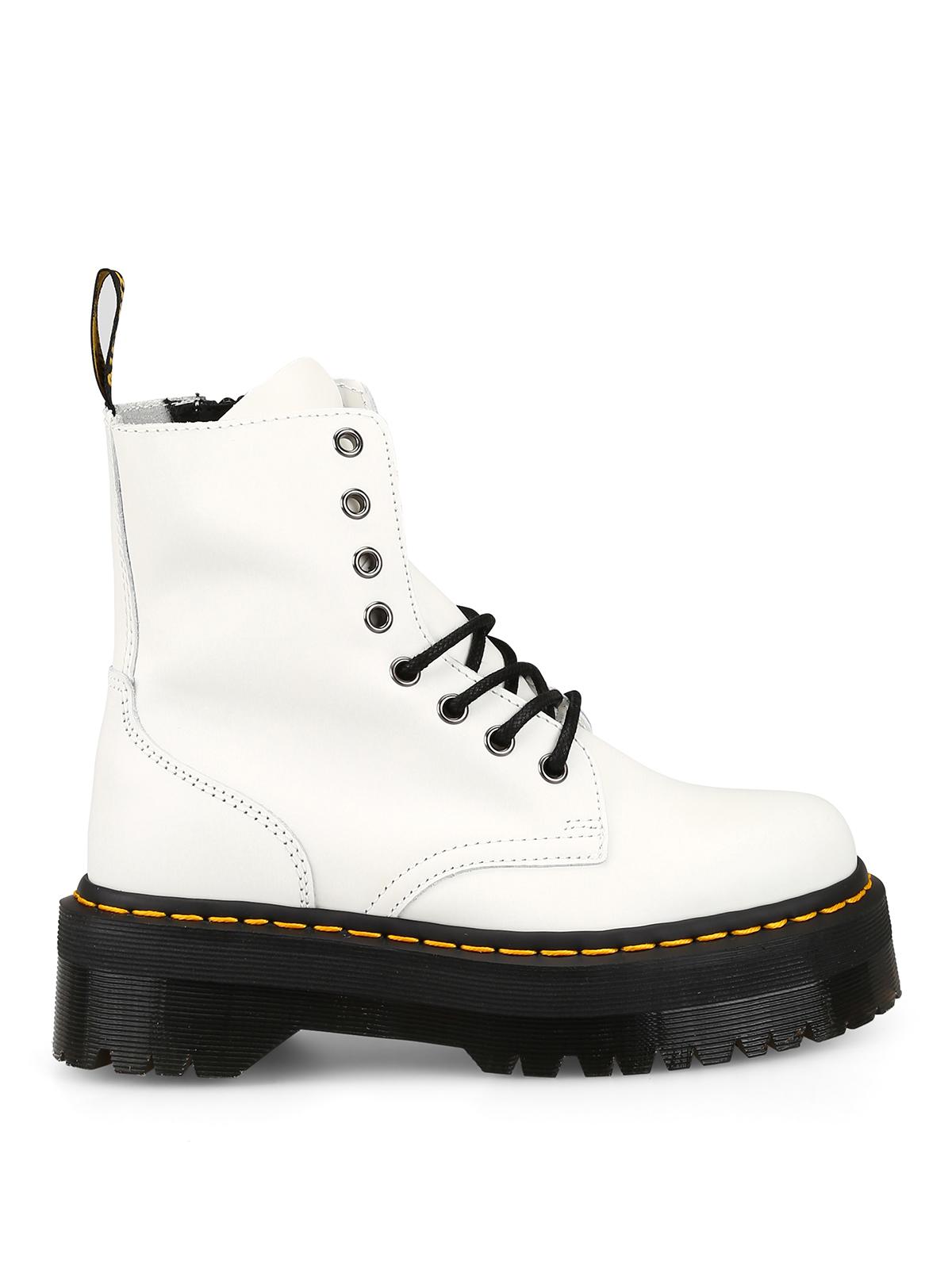 Dr Martens Jadon White Combat Boots Ankle Boots