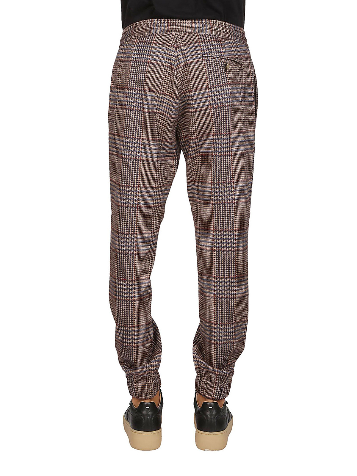 f4d87787271b Etro - Drawstring detail glen plaid trousers - casual trousers ...
