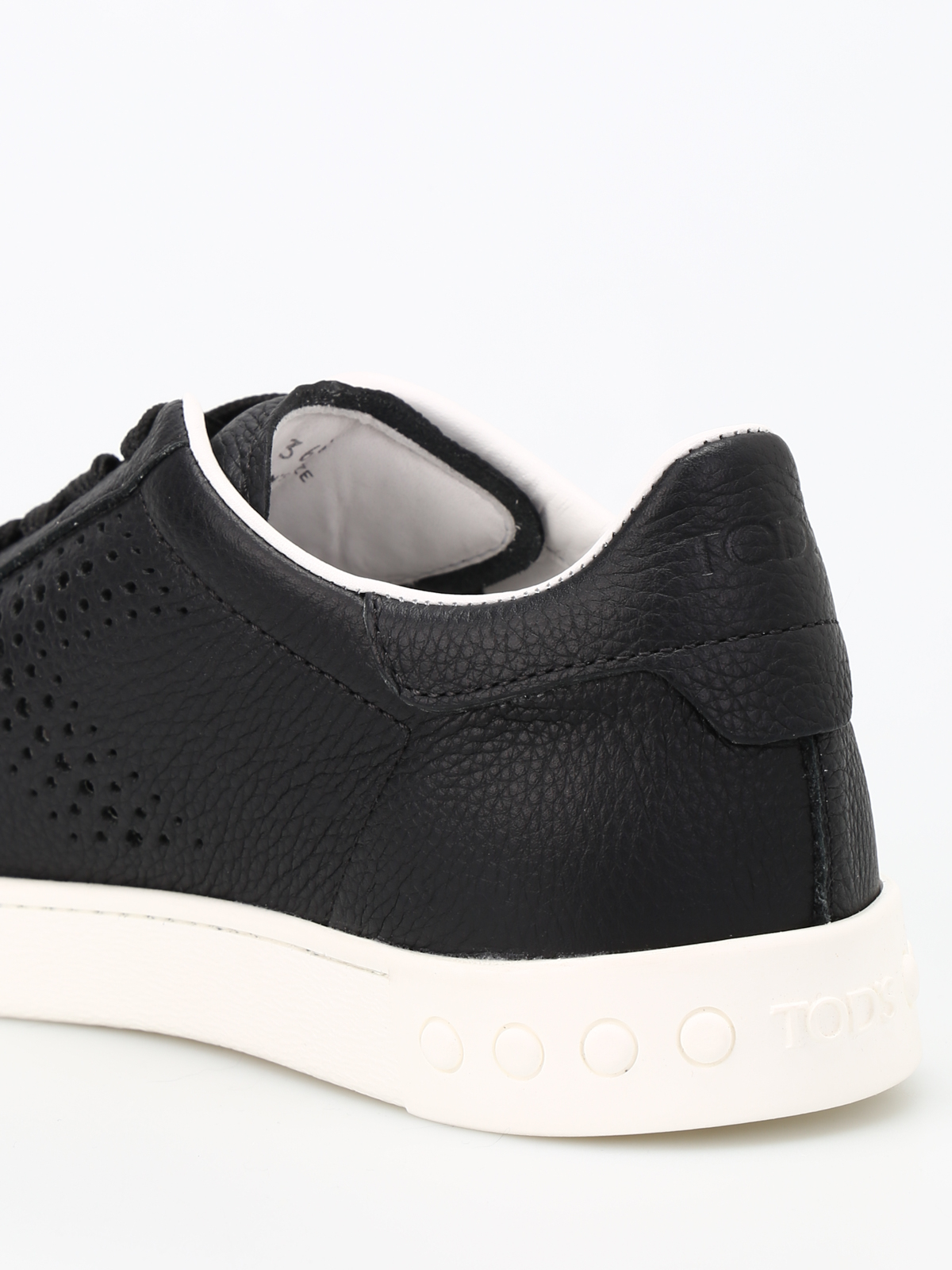 Tod's Drilled T Leather Sneakers Clearance Very Cheap Discount Nicekicks Outlet Visit New XY4RhREQ6O