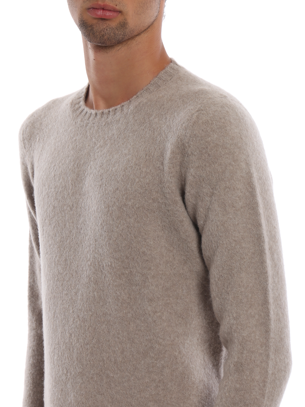 58db1a4cd25114 DRUMOHR buy online Beige brushed lambswool sweater. DRUMOHR: crew necks ...