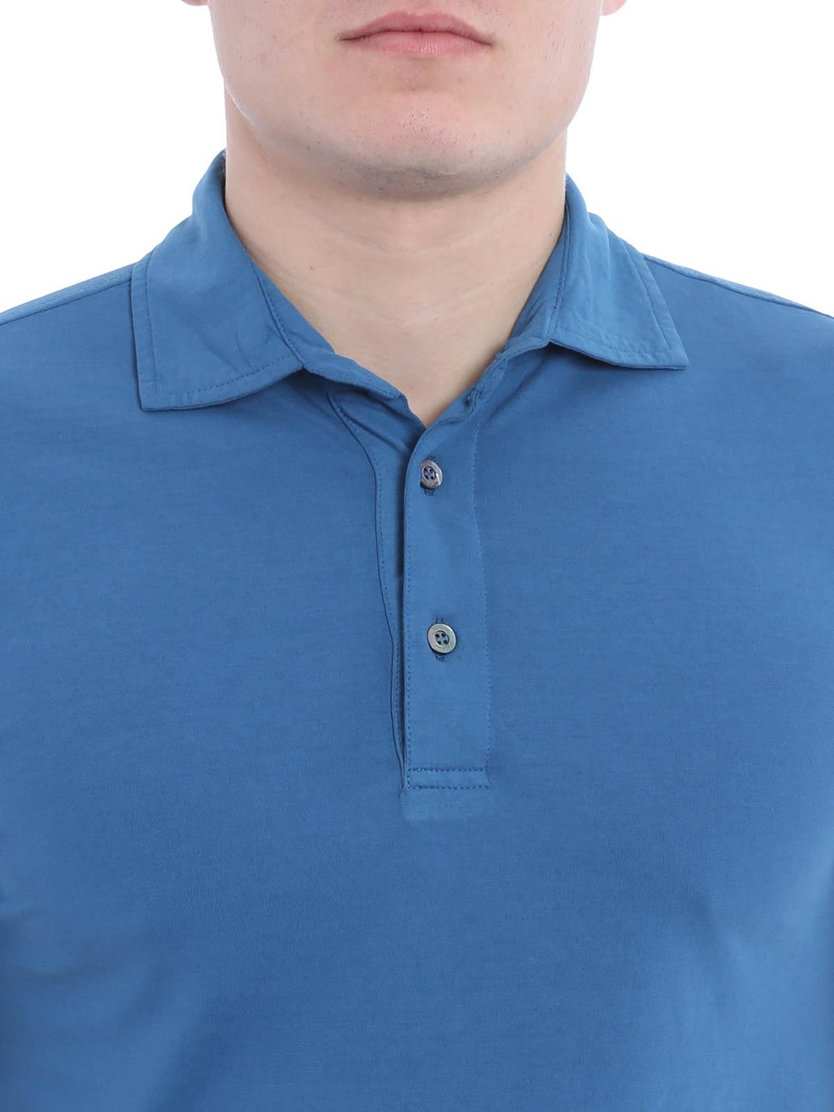 Poloshirt Fur Herren Hellblau von Drumohr Poloshirts