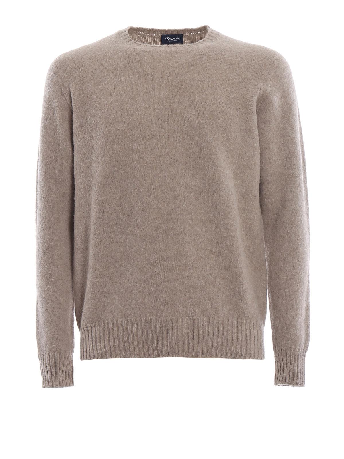 bd5d0b93ab7a4a Drumohr - Beige brushed lambswool sweater - crew necks - D8W103G540