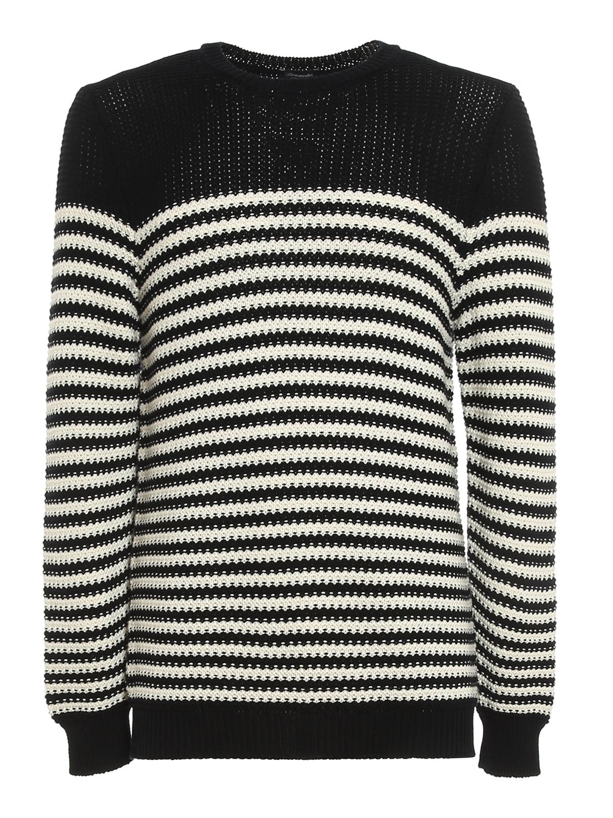 Drumohr Sweaters STRIPED MILANO STITCH SWEATER