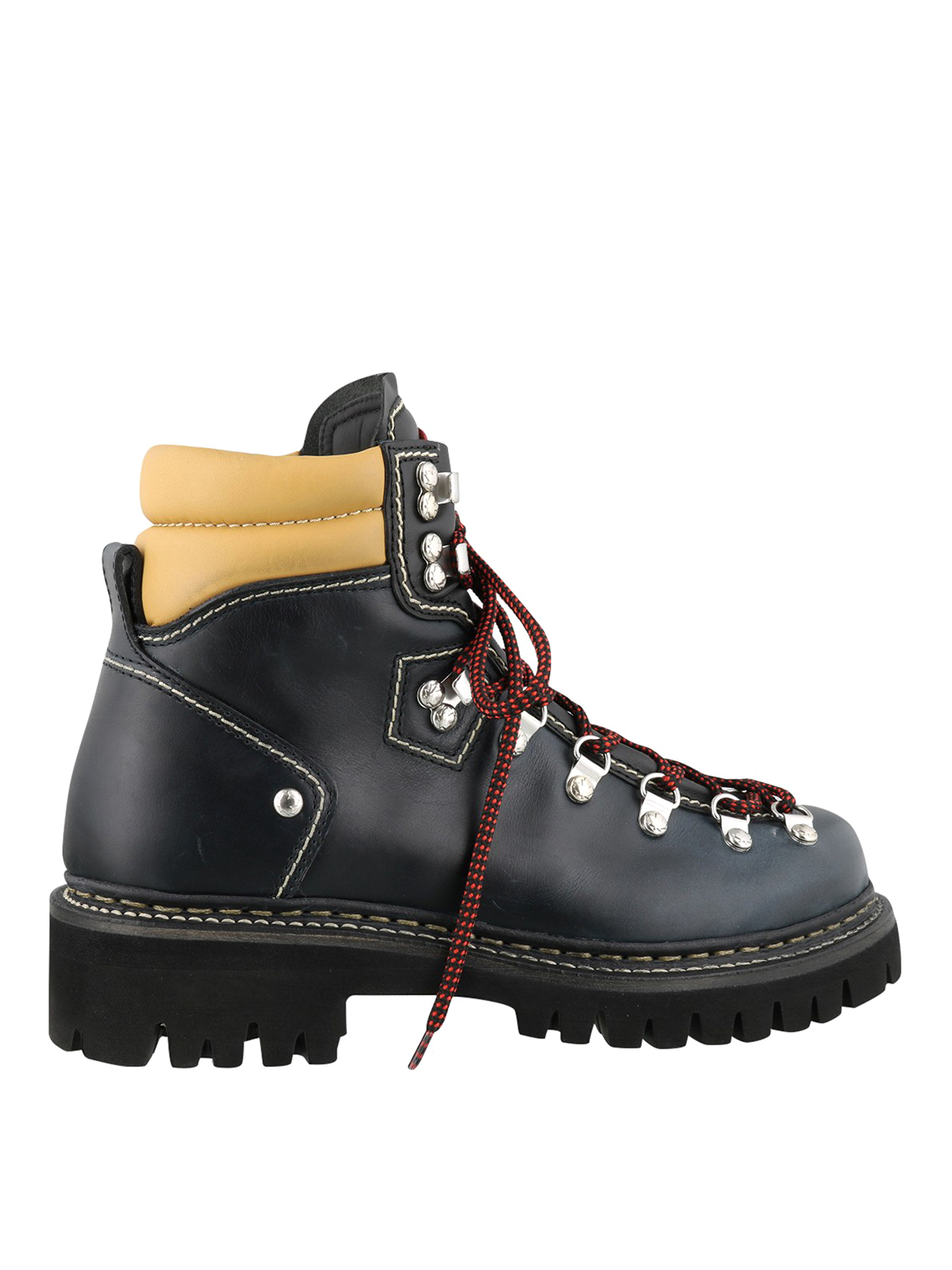 Dsquared2 Leather Walking Boots In