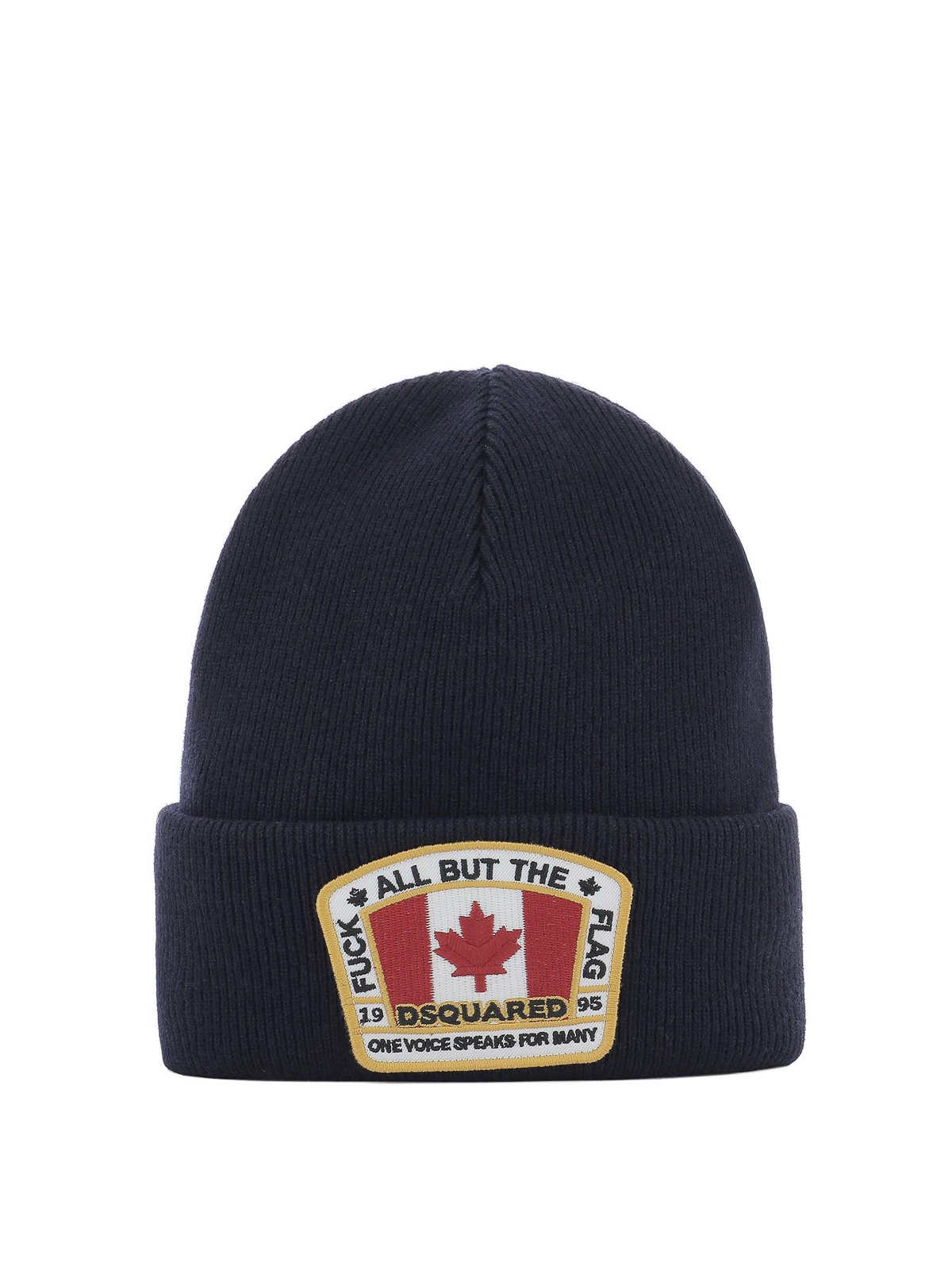 2b30c9fb7cf Dsquared2 - Logo patch blue ribbed wool beanie - beanies ...