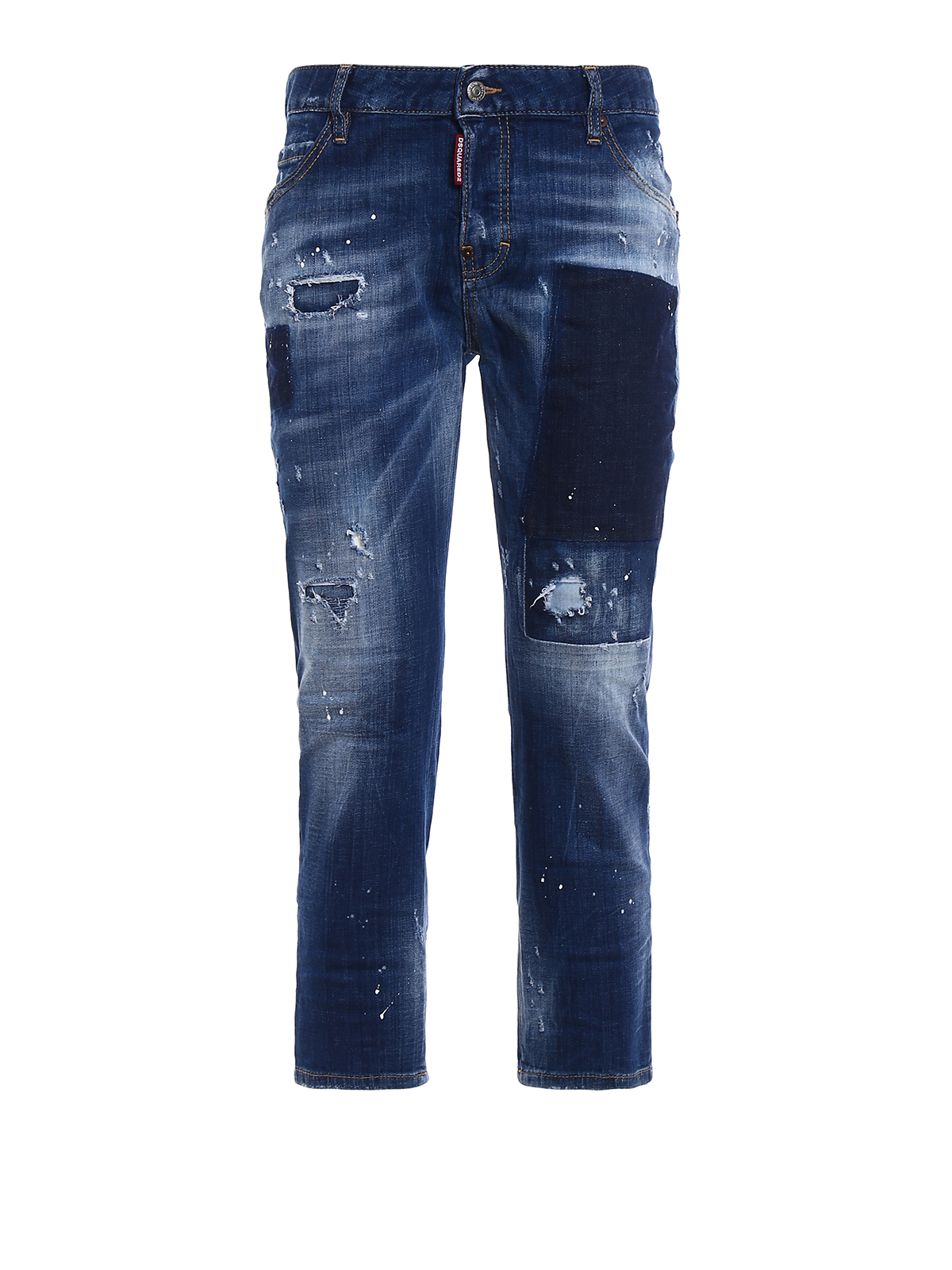Dsquared2 - Jean Boyfriend - Cool Girl Cropped - Jeans boyfriend ... f2679ebafb29