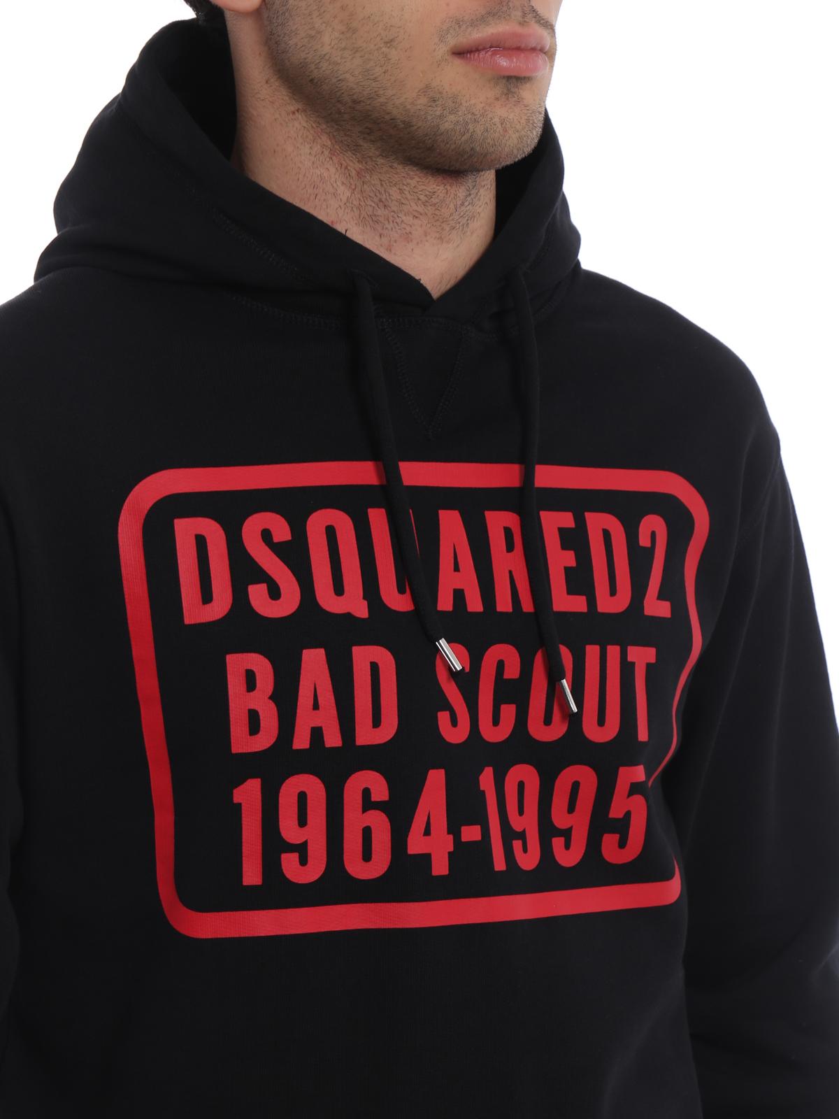 best website 92018 3c738 Dsquared2 - Felpa Bad Scout con cappuccio - Felpe e maglie ...