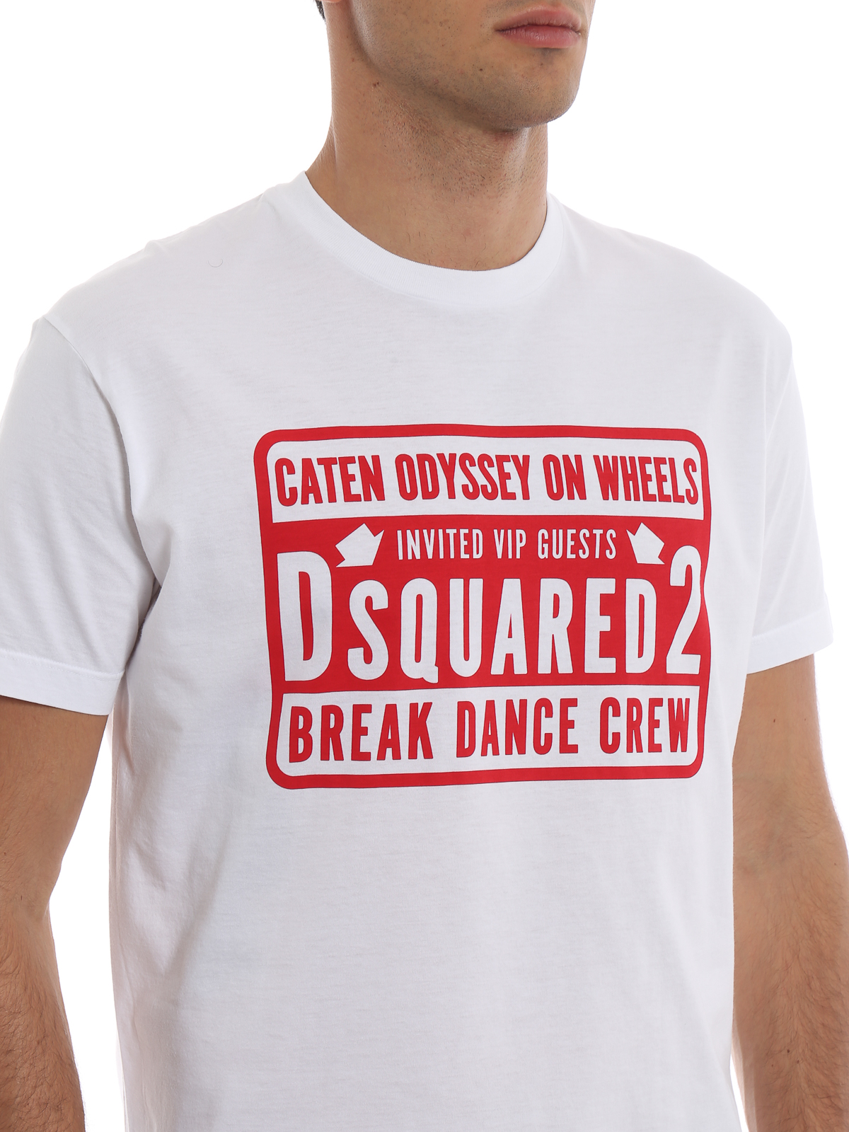 5492f9b92a1d1 Dsquared2 - Break Dance Crew print T-shirt - t-shirts ...