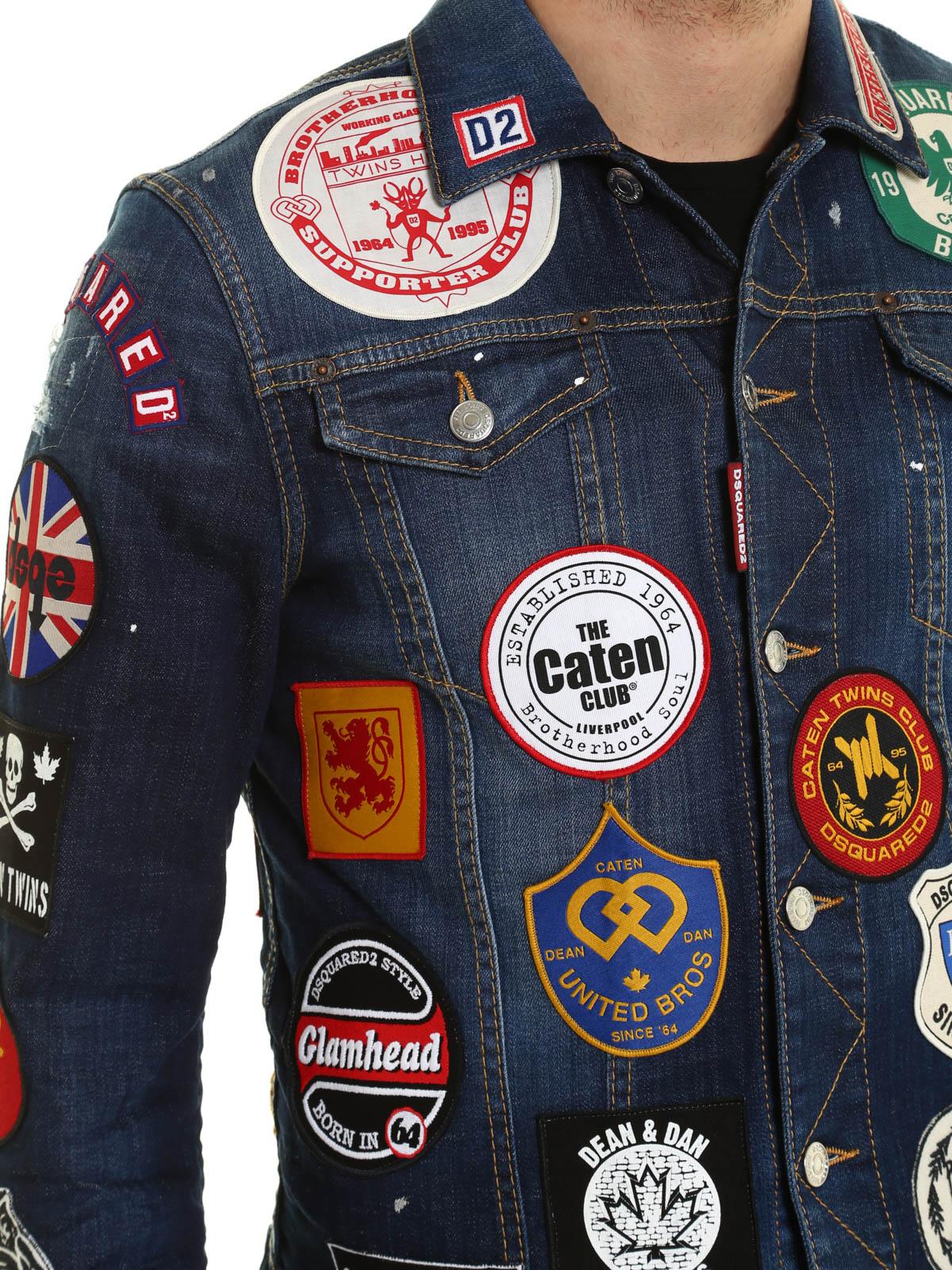 Dsquared2 Denim Jacket With Patches Denim Jacket