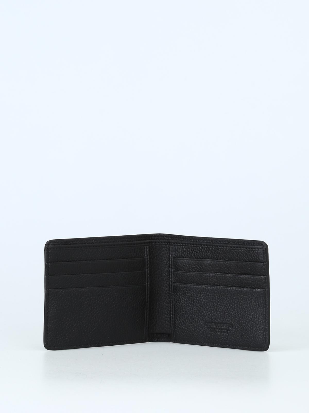 f5ebbeb0c8de Dsquared2 - Embossed logo soft leather bifold wallet - wallets ...