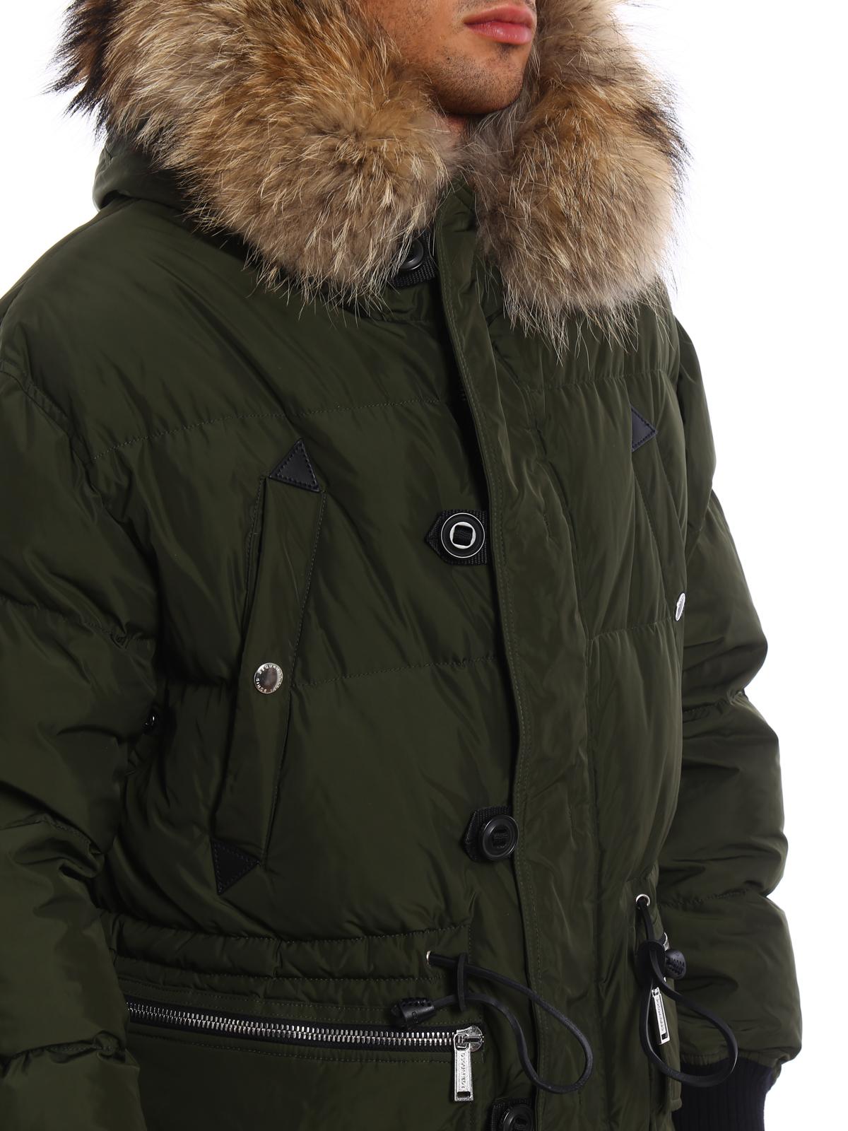 Dsquared2 - Piumino con cappuccio e pelliccia - cappotti imbottiti ... ae7bd4447238