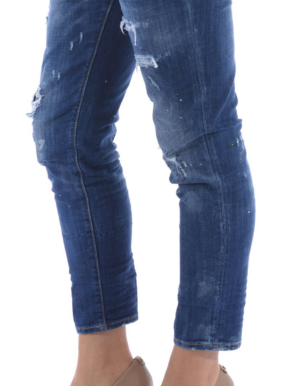 You can buy ripped jeans online which is the best thing to do. Brands like Jack and Jones, Roadster, Numero Uno and many more, manufacture this kind of jeans. These brands make ripped jeans available on many online shopping sites such as Myntra.