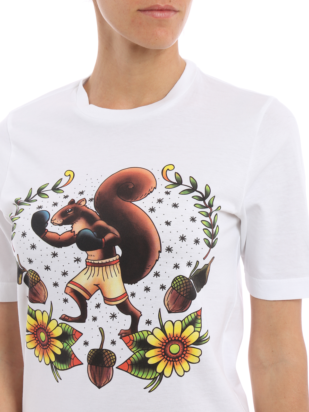 squirrel print t shirt by dsquared2 t shirts ikrix