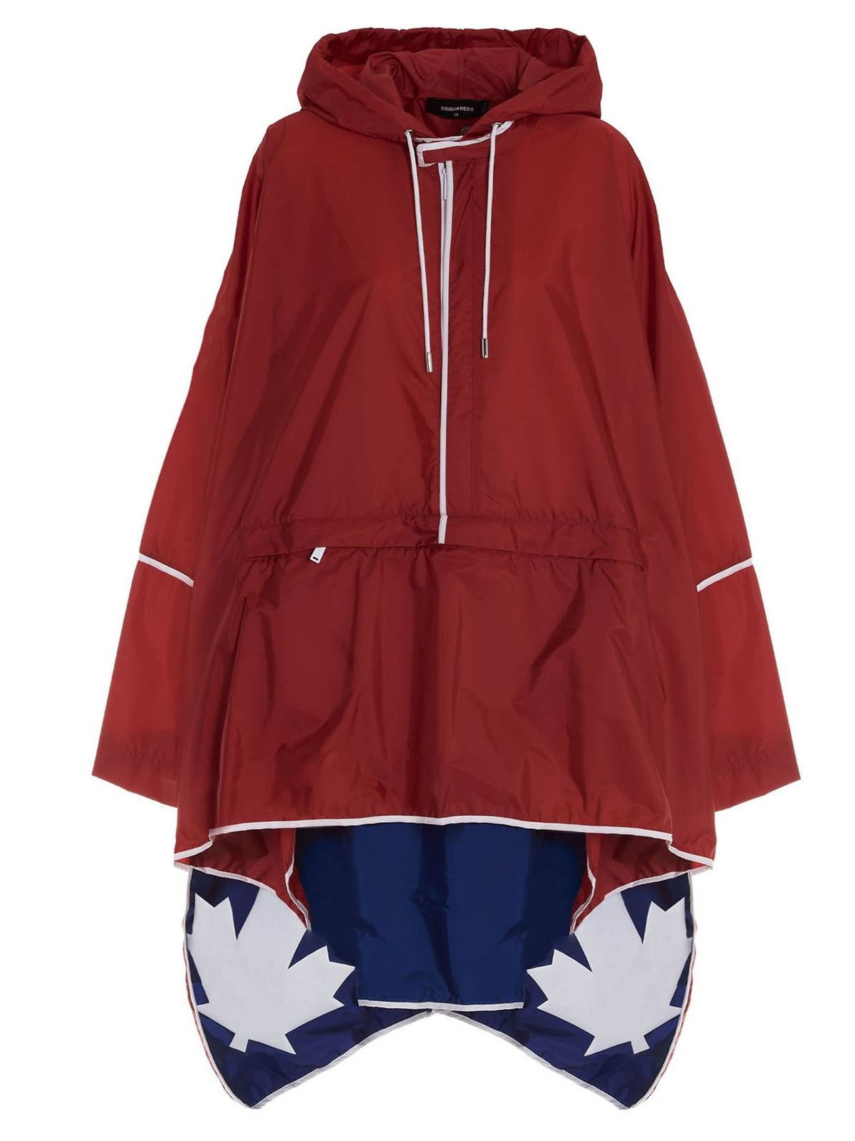 Dsquared2 LOGO ANORAK IN RED AND BLU