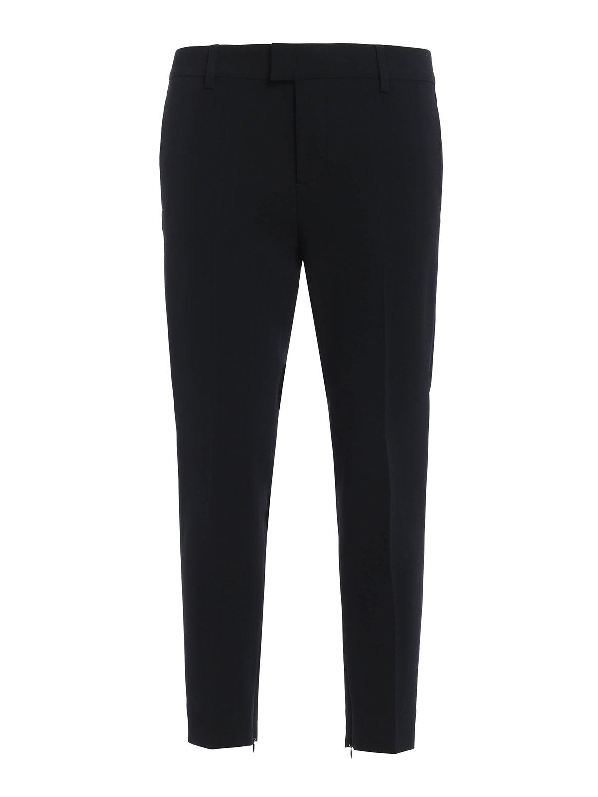 3ea2b247d47 Dsquared2 - Pantalón De Traje Negro Para Mujer - Pantalones casual ...