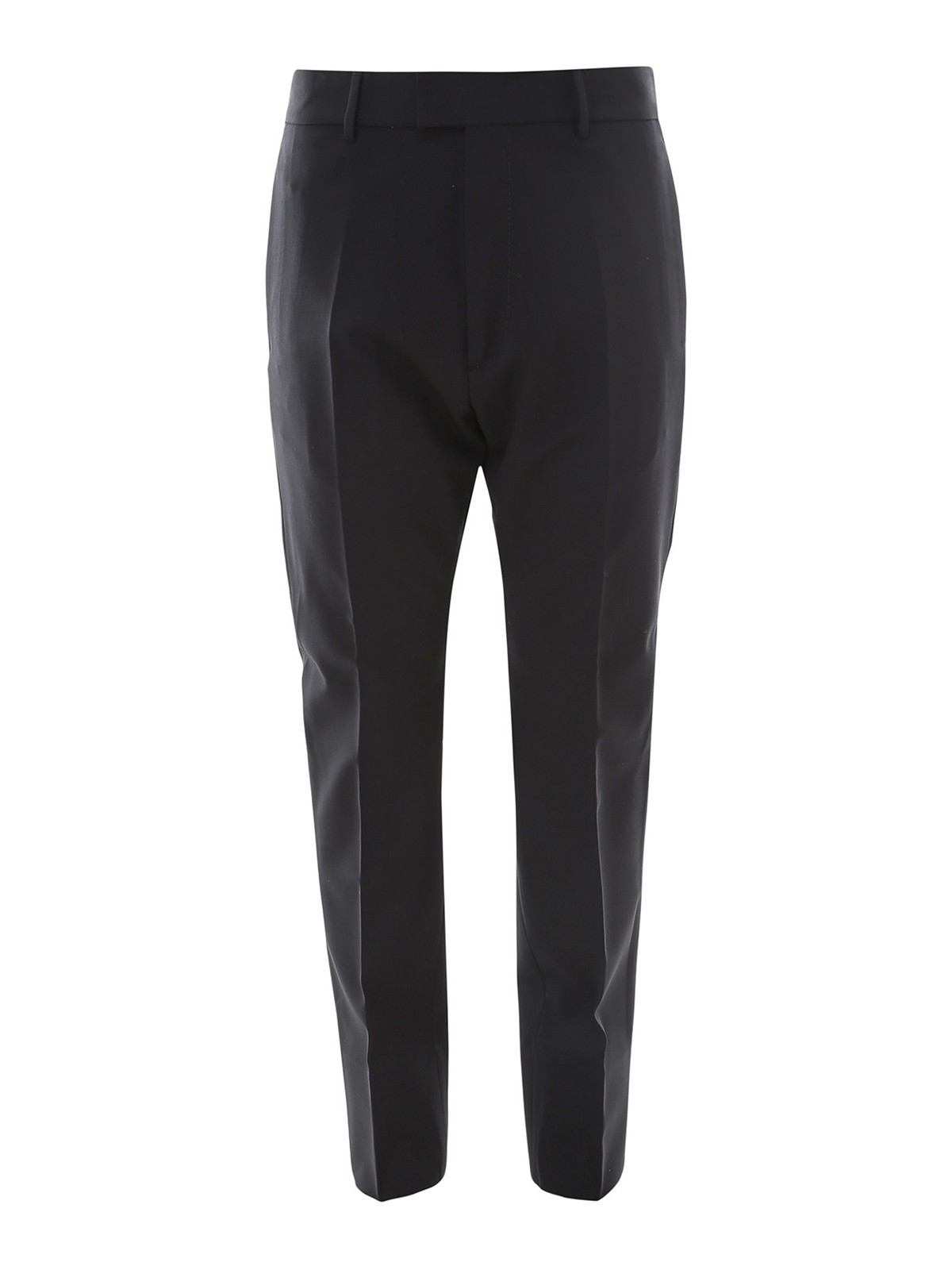 Dsquared2 Wools WORSTED WOOL CIGARETTE TROUSERS