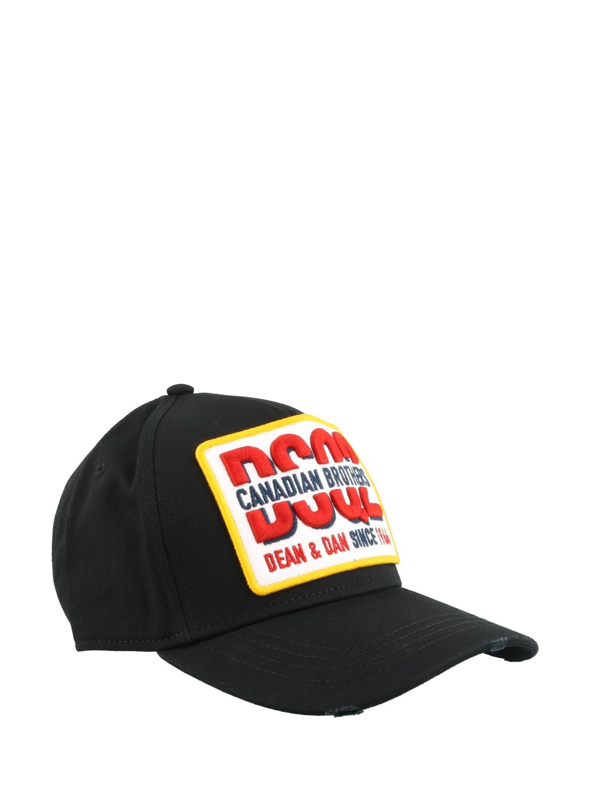 8fbd83a0b2b1a Dsquared2 - Canadian Brothers black baseball cap - hats   caps ...