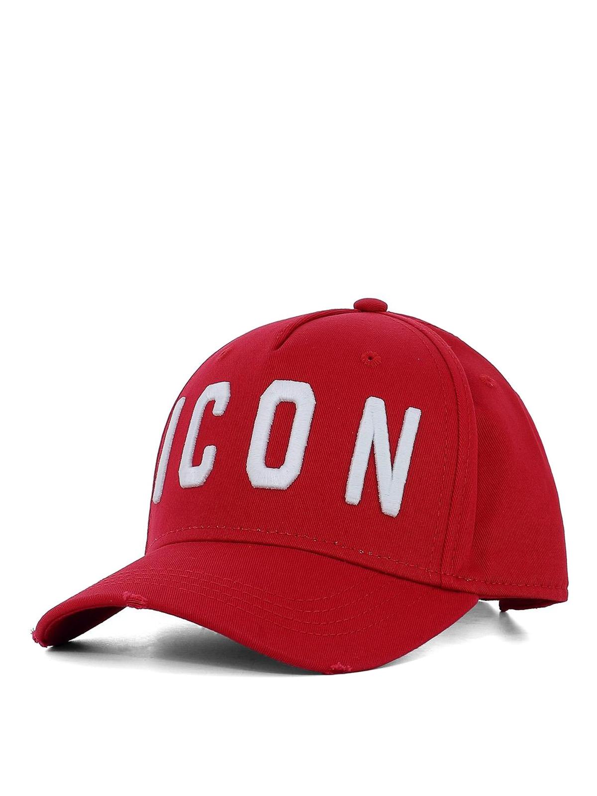 Dsquared2 - Cappello da baseball Icon rosso - cappelli ... ad62ae4f9e30