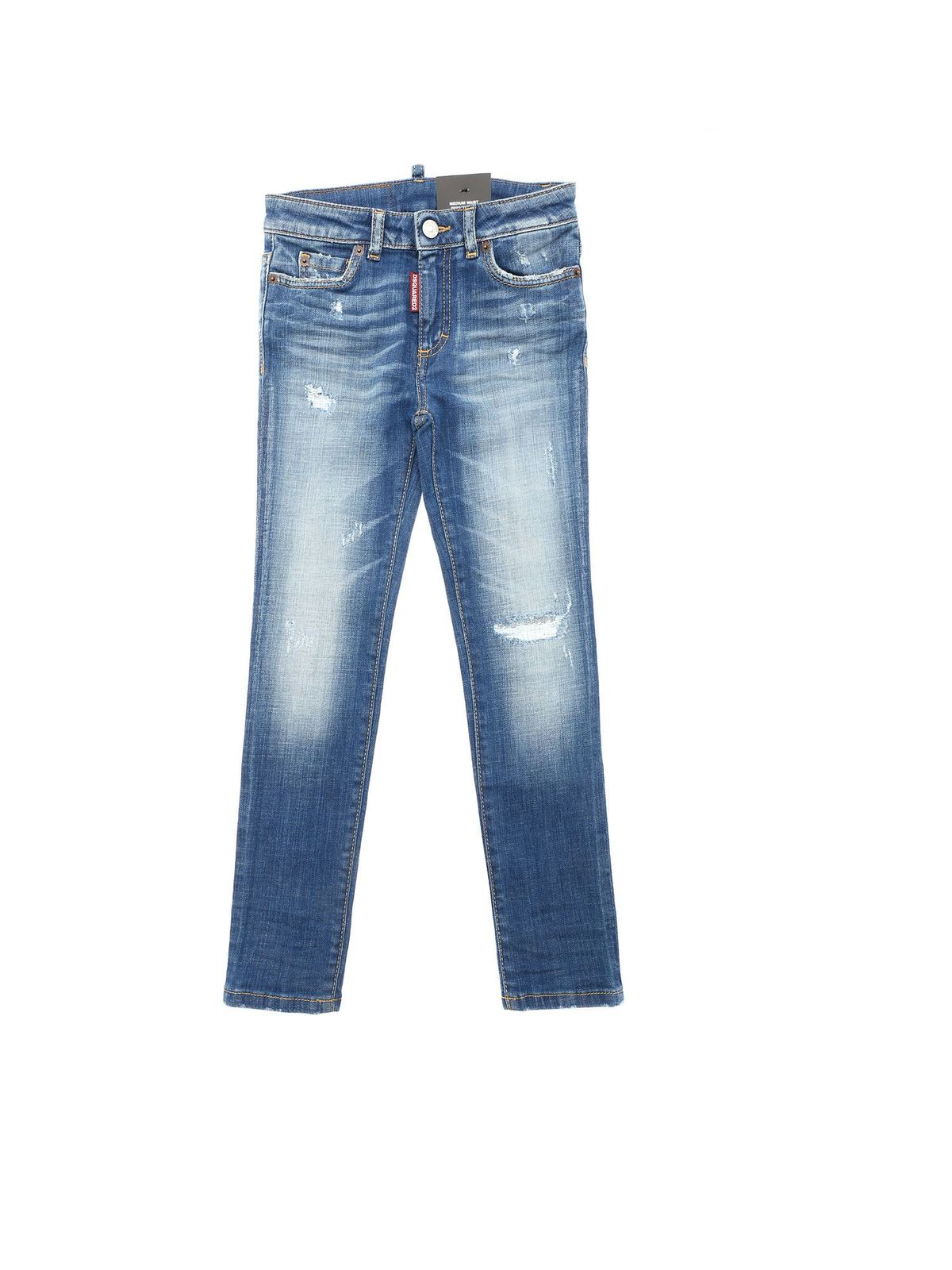 Dsquared2 DESTROYED EFFECT DETAILS JEANS IN BLUE