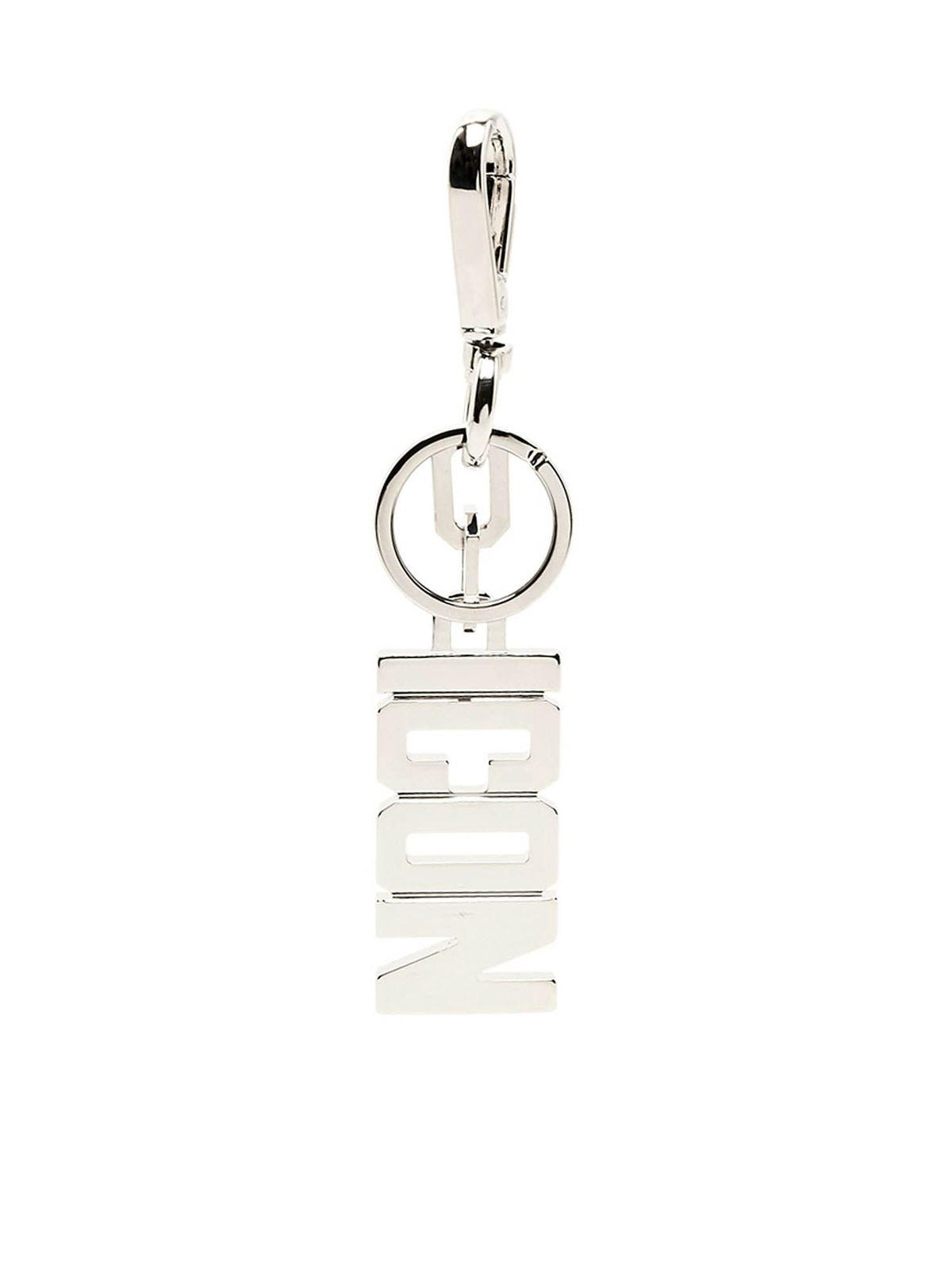 Dsquared2 Keychains ICON KEYRING IN SILVER