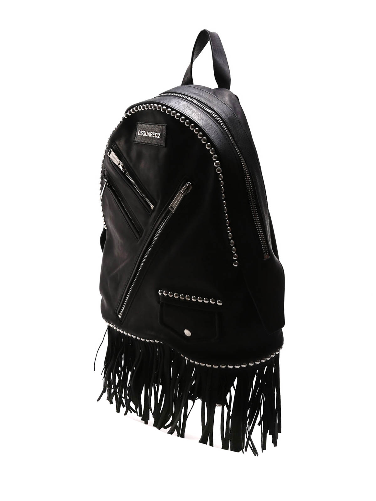 2f0c793bc512 DSQUARED2  backpacks online - Leather studded Chiodo backpack