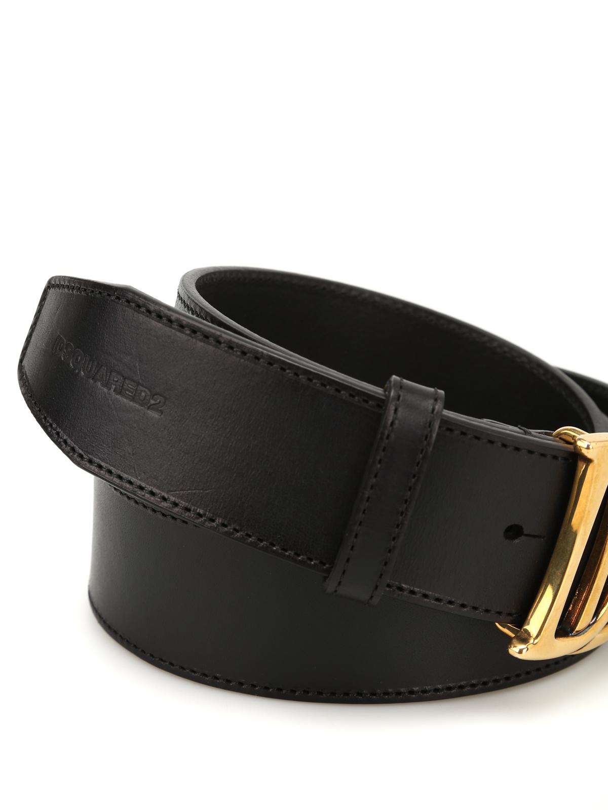 DSQUARED2  cinture online - Cintura con fibbia doppia D 4360b6dbd7c0