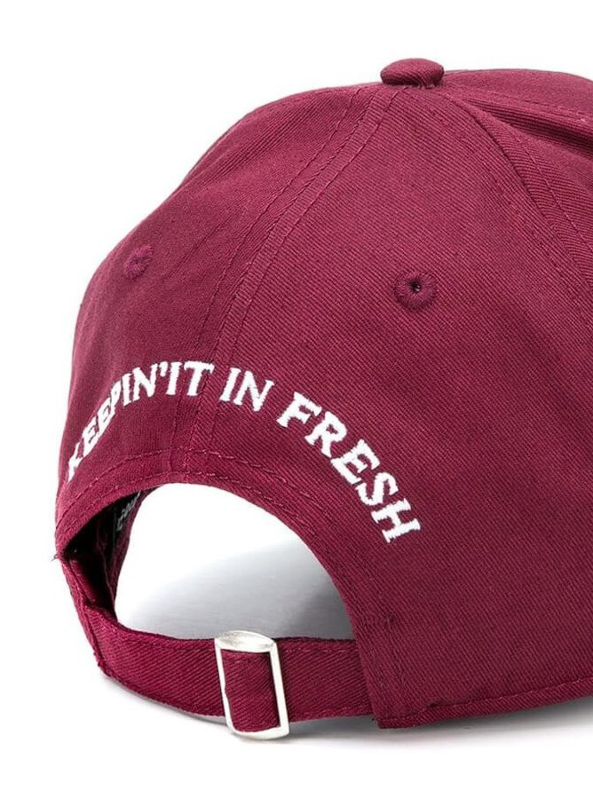 bbd97930973 DSQUARED2  hats   caps online - Burgundy cotton baseball cap