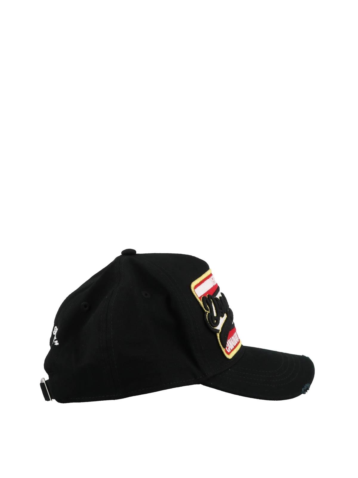 d07ac60ccbf35 DSQUARED2  hats   caps online - Canadian Brothers black baseball cap