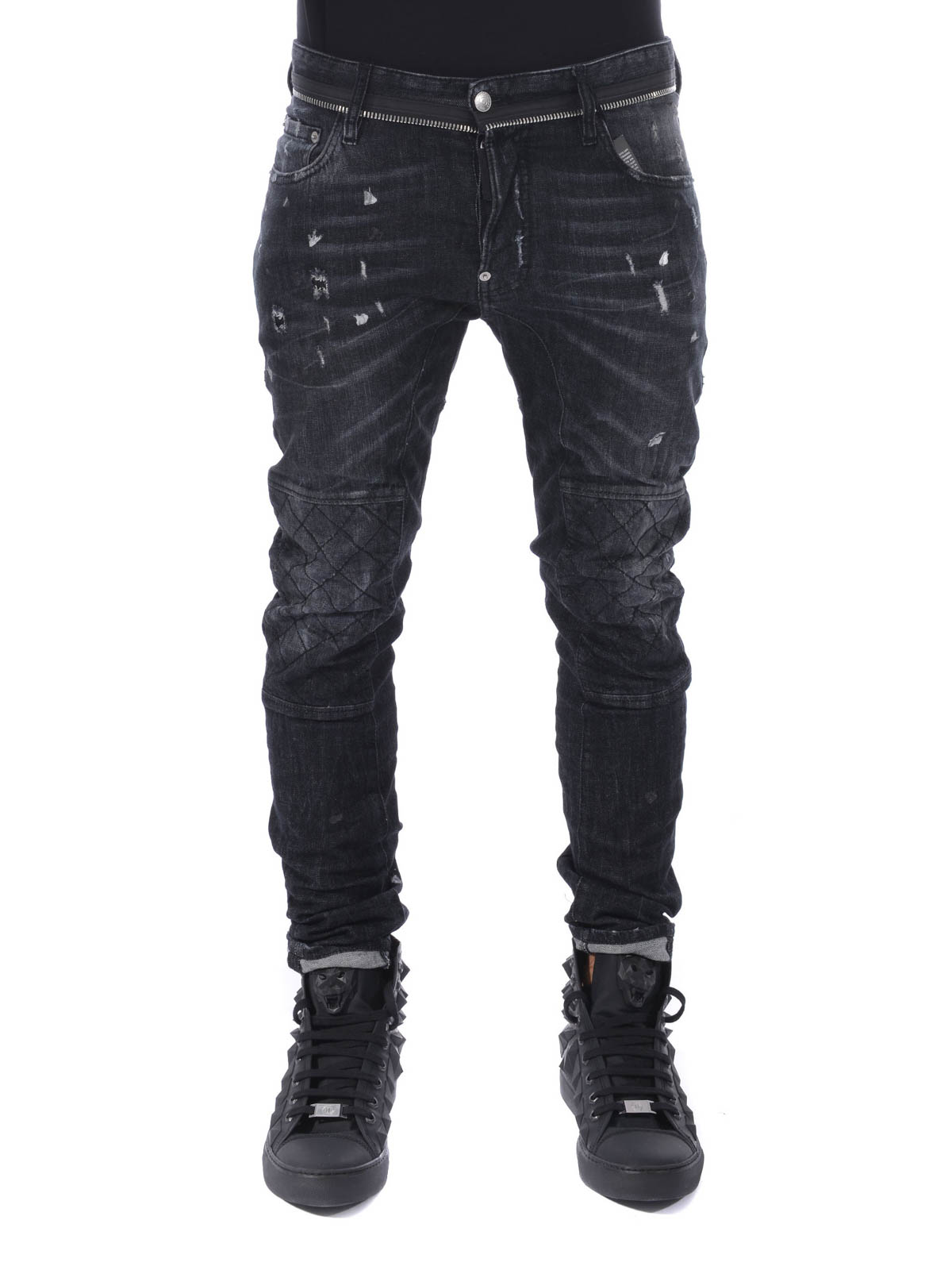 dsquared2 jean skinny noir pour homme jeans skinny s74la0840 s30400 900. Black Bedroom Furniture Sets. Home Design Ideas