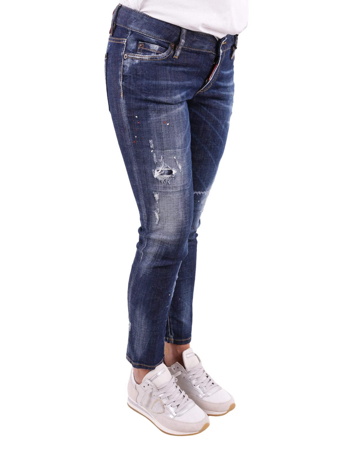 6a9f5ab66f3dc DSQUARED2: straight leg jeans online - Jennifer Cropped jeans