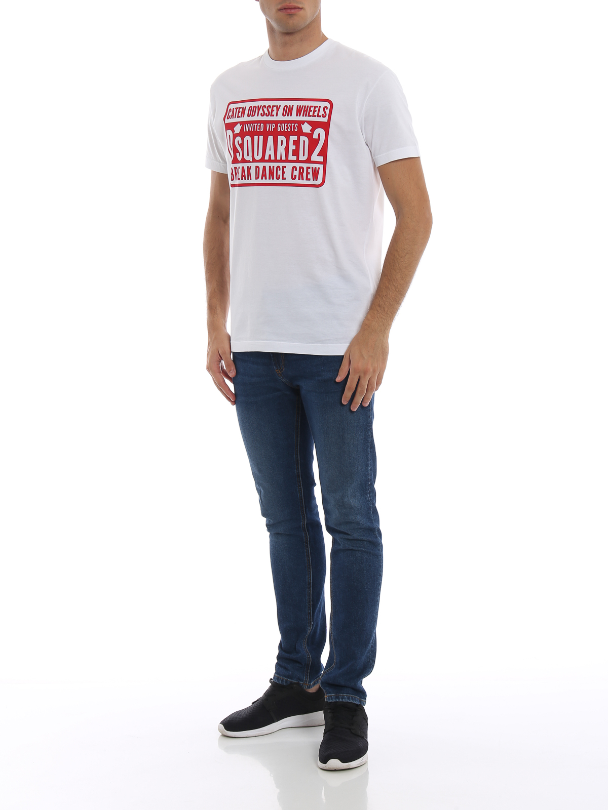 1000e6ae3fe06 DSQUARED2  t-shirts online - Break Dance Crew print T-shirt