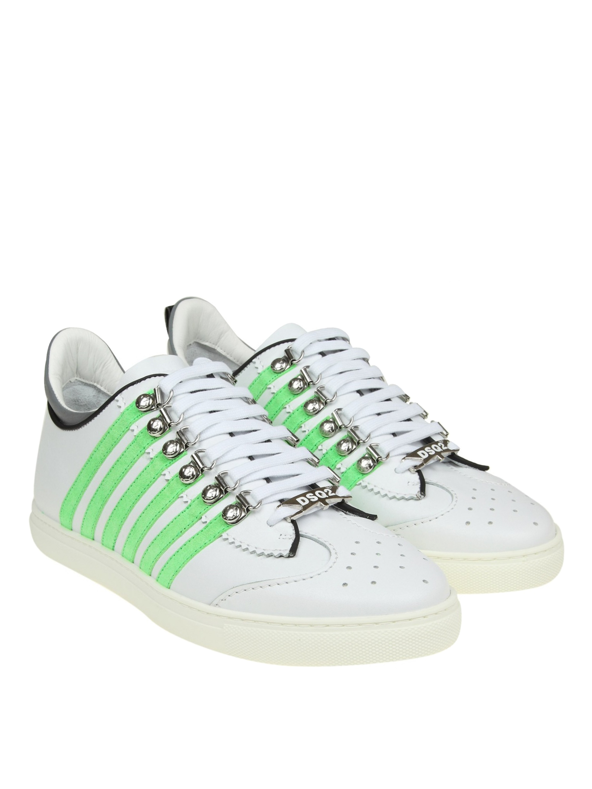 251 sneakers with green stripes