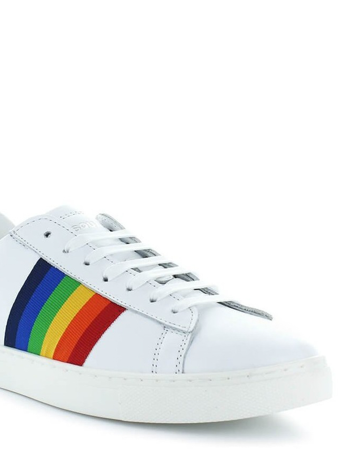 New Tennis rainbow striped sneakers