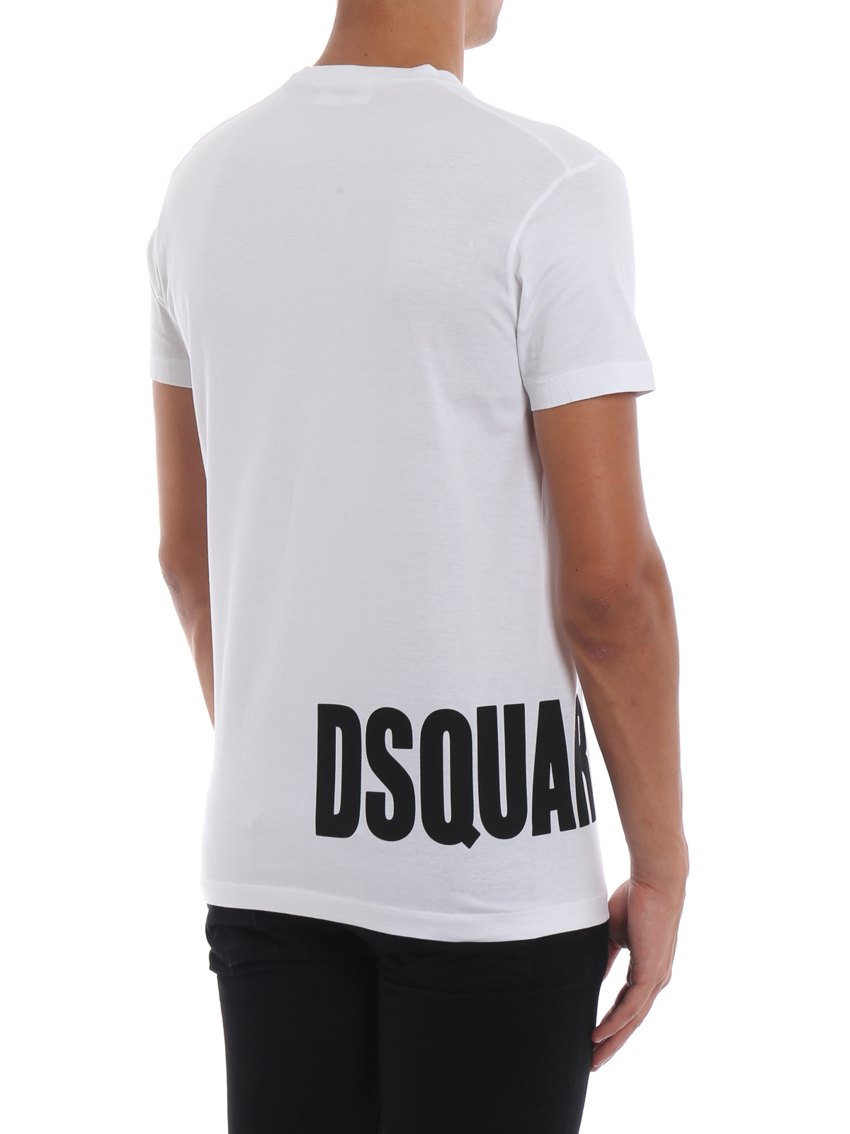Dsquared2 - T-shirt bianca in cotone con stampa Dsquared2 - t-shirt ... 06c0203d5f7f