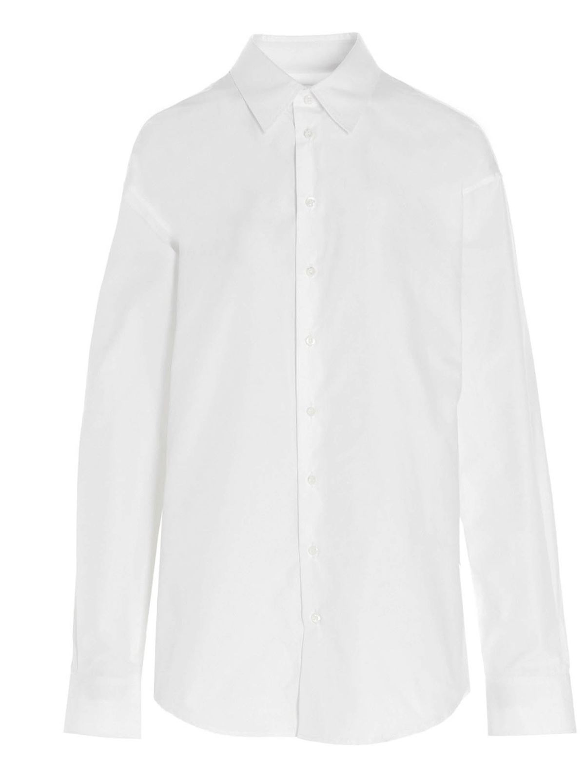 Dsquared2 CLASSIC OVERSIZED SHIRT IN WHITE