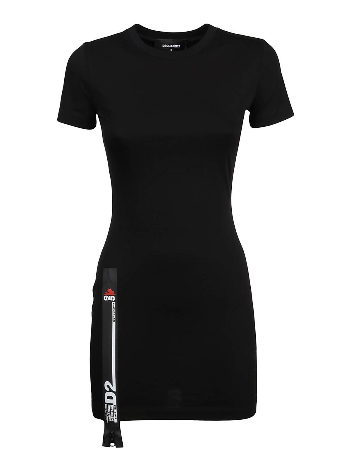 Dsquared2 Mini dresses COTTON SHORT DRESS
