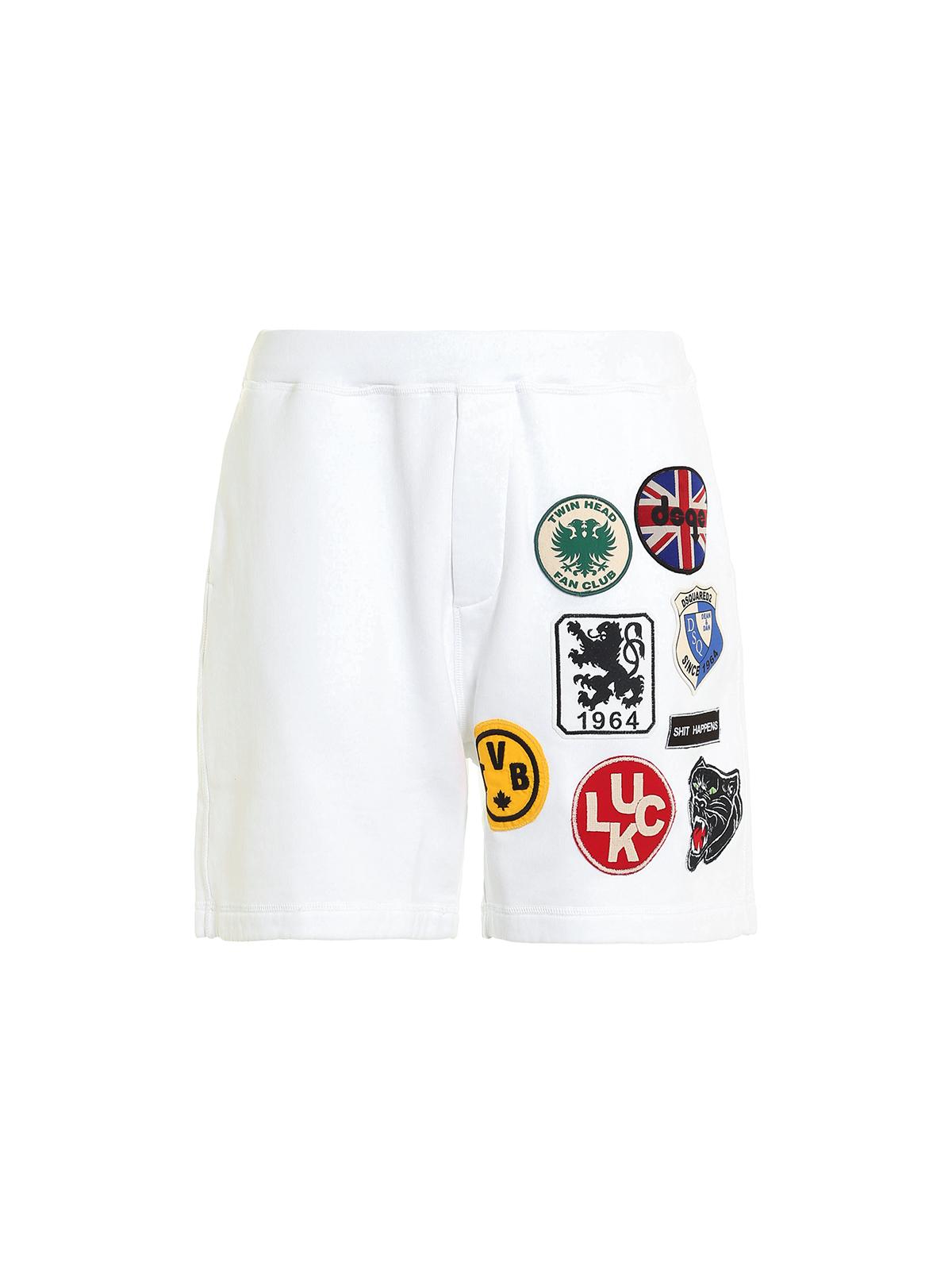 Dsquared2 Blanco Pantalón Hombre Chándal Para Pantalones Cortos 54AL3RjcqS