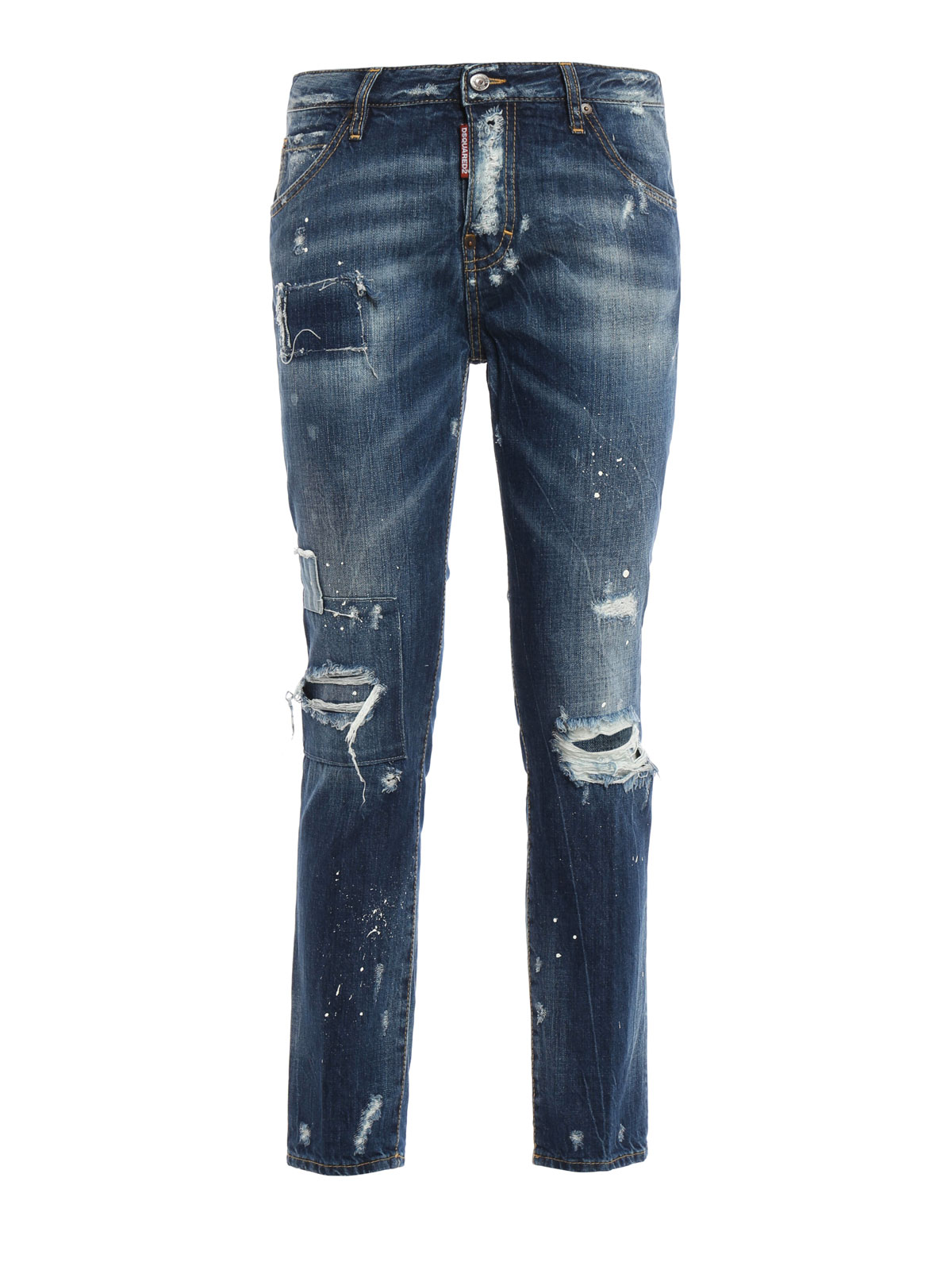 Grey stretch cotton 'Cool Girl' jeans from DSQUARED2 featuring a front button fastening, a waistband with belt loops, a five pocket design, distressed effects, a bleached effect and an ankle length. This item may not be on sale in France, UK, Italy, Belgium and 0549sahibi.tk: $