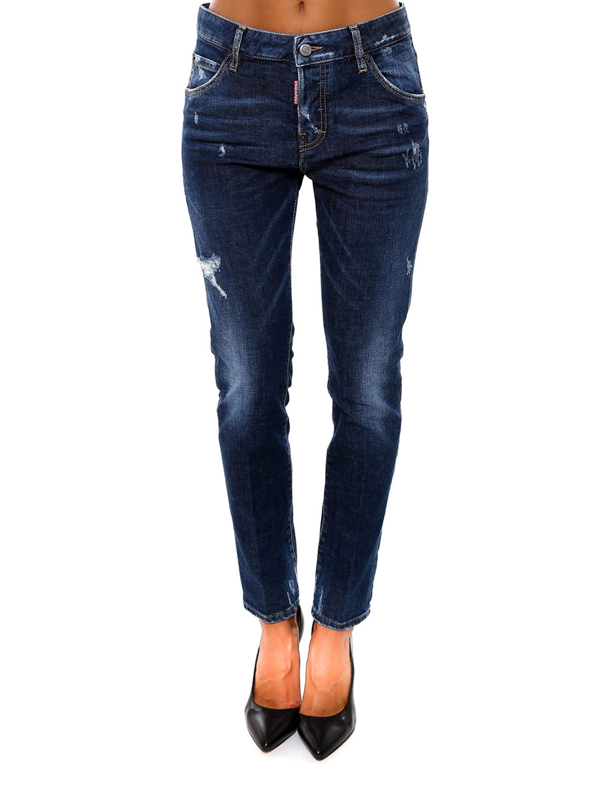 Online shopping ripped jeans