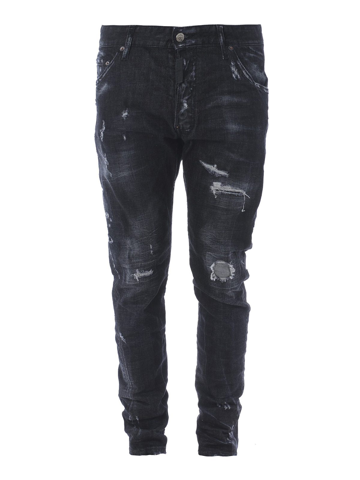 Details about  /Dsquared2 Mens Twin Peaks Classic Kenny Jeans Worn Effect Cotton Blend Denim