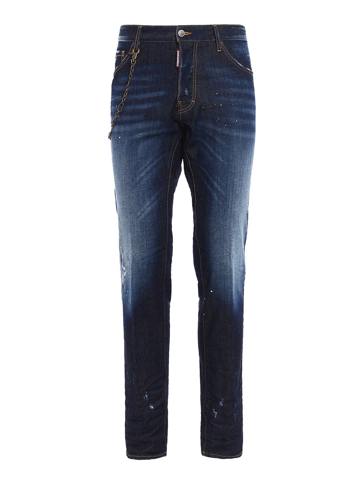 Dsquared2 Straight Leg Jeans Dark Wash Straight Leg