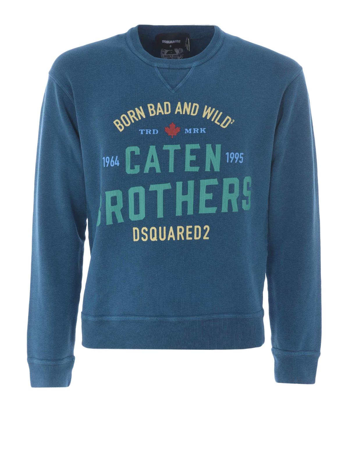 Clair Pulls Dsquared2 Shirts Sweat amp; Sweatshirts Bleu YxTa8