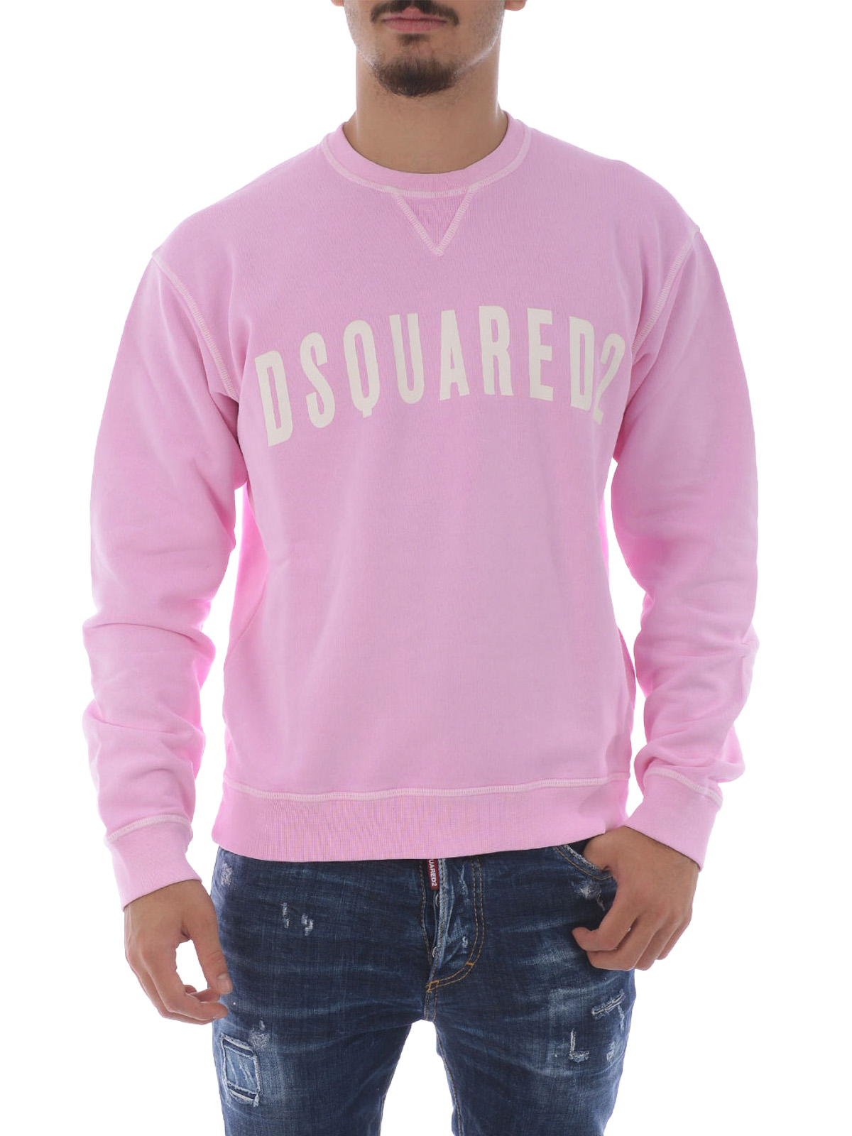 Logo lettering cotton sweatshirt by Dsquared2 - Sweatshirts ...